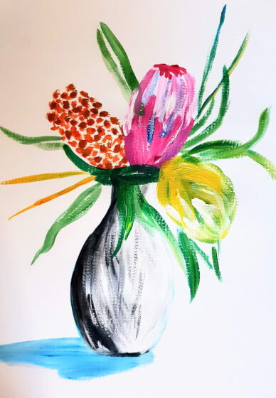 Paint and Sip Class - Wildflowers (Mar 29)