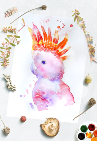 Paint Beautiful Watercolour Birds
