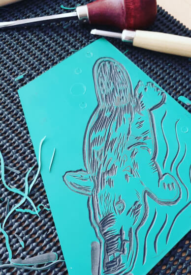 Printmaking Workshop: Linocut and Dry Point