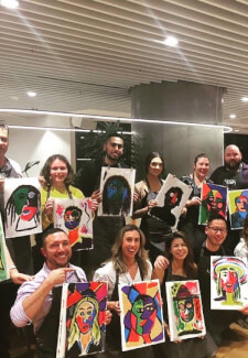Private Group Paint and Sip Class