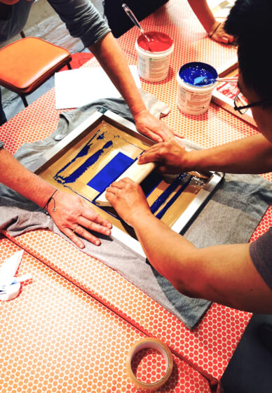 Screen Printing on Fabric Workshop