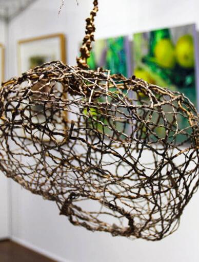 Sculpture Weaving Class with Natural Materials