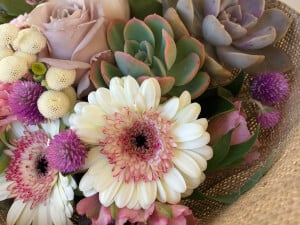 Succulent + Flower Bouquet Arrangement