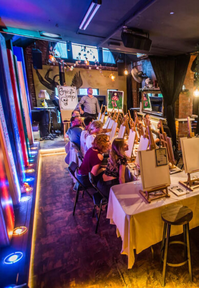 Tipples and Tints: Paint and Sip Class