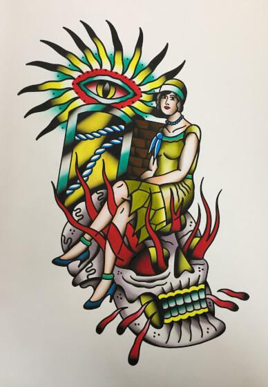 Traditional Flash Tattoo Illustration Class
