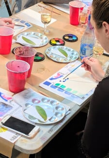 Watercolour and Wine Class