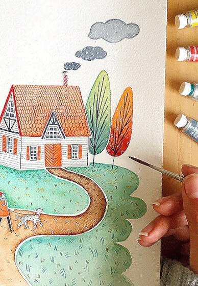 Watercolour Art Workshop: Drink and Draw