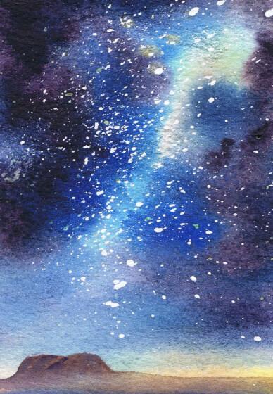 Watercolour Galaxy Workshop