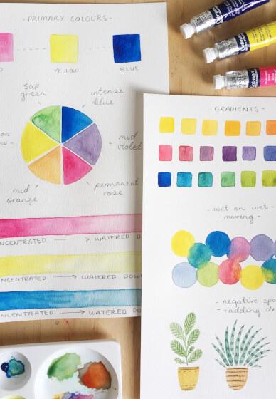 Watercolour Illustration Class for Tweens & Teens