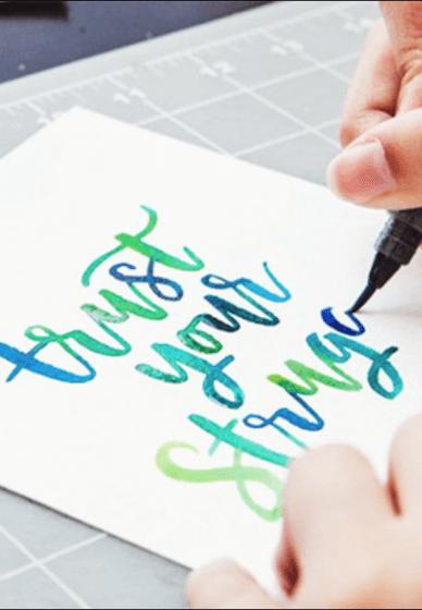 Watercolour Lettering Class