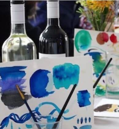 Watercolour Painting and Wine Class