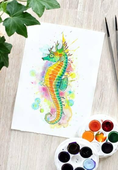 Watercolour Painting Class: Marine Animals