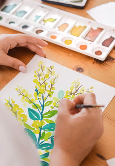 Watercolour Painting Class: Native Flowers