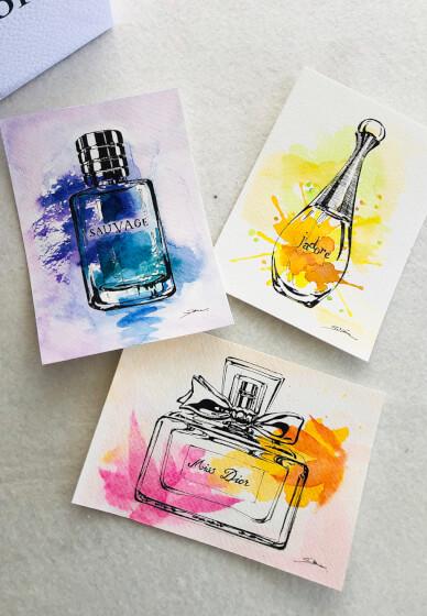 Watercolour Painting Class: Perfume