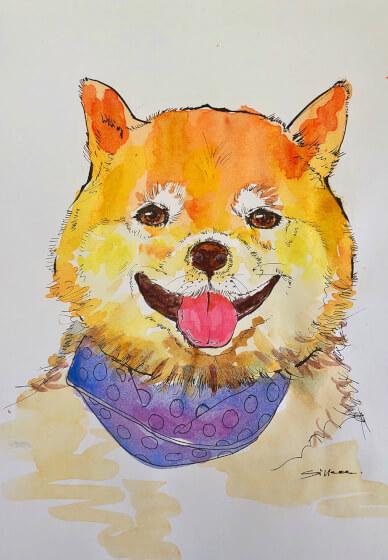 Watercolour Pet Portrait Painting Class