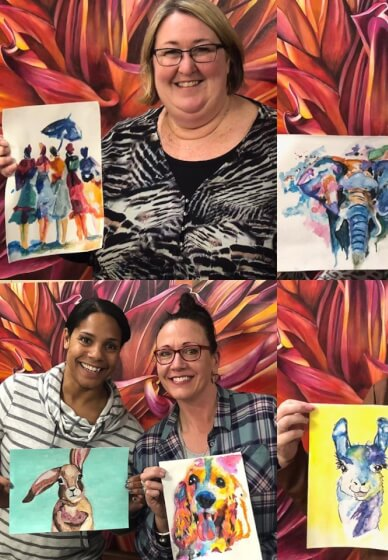Wine and Watercolour Painting Class