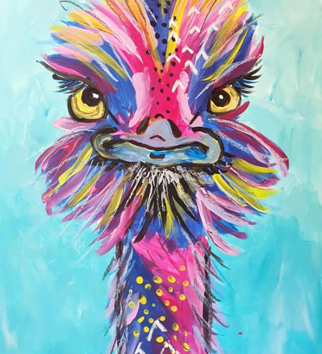 Painting Craft Box Kit Birds For Beginners Classbento