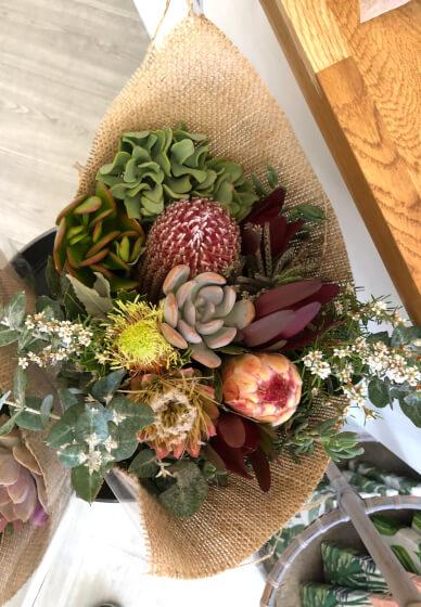 Succulent Flower Bouquet Arrangement Sydney Classbento