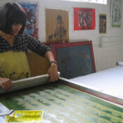 Carizza  Teague, screen printing and sewing and textiles teacher