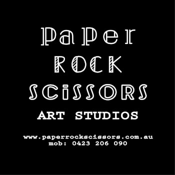 Paper Rock Scissors Art Studios, painting and paper craft and ink teacher
